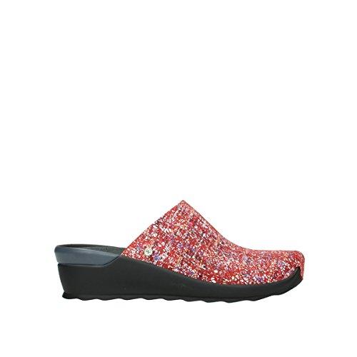 Wolky 40950 Multi Red Multicolore Suede Stringate 38 Scarpe Donna 1482412 RUrgRq