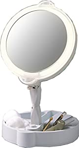 Home Travel 9X/1X Folding Lighted Cosmetic Mirror