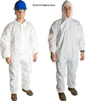Lakeland Pyrolon Plus 2 Flame-Resistant Coverall, Disposable, Elastic Cuff, 2X-Large, White (Case of 25)