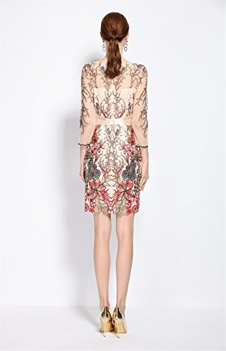 Robes De La Hanche Cotylédons Du Paquet Women`s Slim Fit Voir Au Rouge Robe