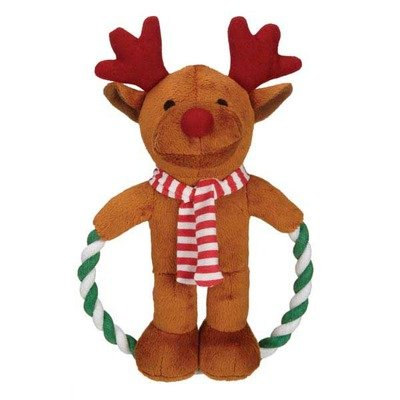 Zanies Jolly Jump Rope Friend Dog Toy, - Toy Rope Snowman