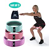 Moserking Resistance Bands Exercise Bands for Booty,Hip Bands for Legs and Butt, Stretch Bands for Physical, Set of 3, Workout Bands with Workout Book & Carry Bag For Sale