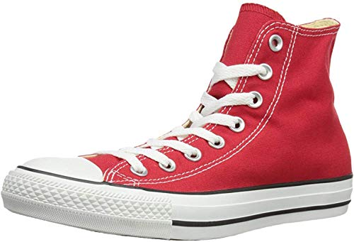 Converse Unisex Chuck Taylor Hi Basketball Shoe (3.5 Men 5.5 Women, Red) (Red, 8.5 B(M) US Women / 6.5 D(M) US Men) (Women Red Converse)