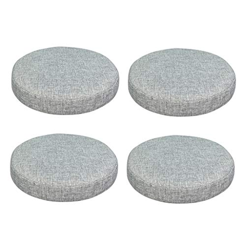 Flameer Pack of 4 Linen Cotton Bar Stool Cover Slip ON Replacement Top Seat Sleeve Slipcover Gray (Magnolia Stool Bar 30')