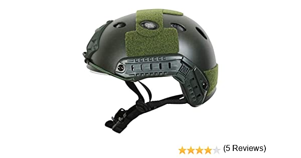 COZYJIA Tactical Army Estilo Militar PJ Tipo SWAT Combat Fast Helmet con Gafas Montaje NVG y riel Lateral para CQB Tiro Airsoft Paintball