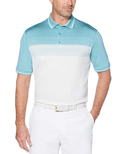 - Callaway Men's Cooling Engineered Jacquard Short Sleeve Golf Polo, Delphinium Blue, X-Large