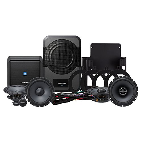 2010 System - Alpine Electronics PSS-20WRA Direct Fit for 2007-2014 Jeep Wrangler Unlimited Without The Factory Upgraded Sound System