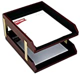 Dacasso Two-Tone Leather Double Letter Trays (A7020)