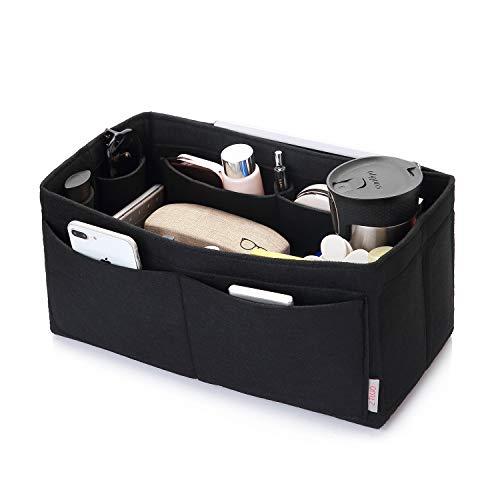 Felt Purse Organizer, Multi Pocket Bag in Bag Organizer For Tote & Handbag Shaper, Speedy 30, Speedy 35 and Speedy 40, Medium, Large, Extra Large(Medium, Black)