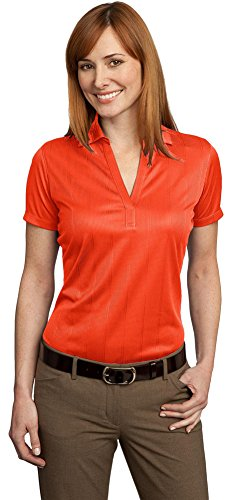Port Authority Ladies Performance Fine Jacquard Polo, Autumn Orange, Medium