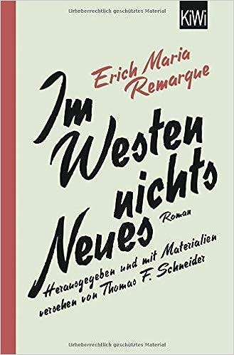 Im Westen Nichts Neues Roman Mit Materialien Erich Maria