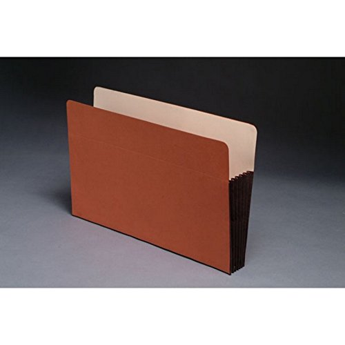 Standard TOP TAB Expansion Pockets, Chocolate Brown Tyvek Gussets, Legal Size, 5-1/4'' Expansion (Carton of 100)