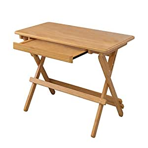 Computer Workstations Computer Desk Wooden Computer Drawer Table Catering Game Table Office Folding Table Lifting Table (Color : Beige, Size : 90 * 50cm)