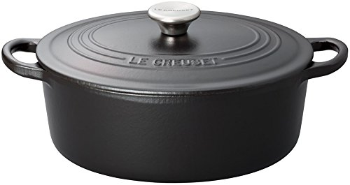 (Le Creuset 5-Quart Oval French Oven, Matte Black)
