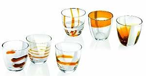Guzzini 28690545 juego de 6 vasos Table Art Gift