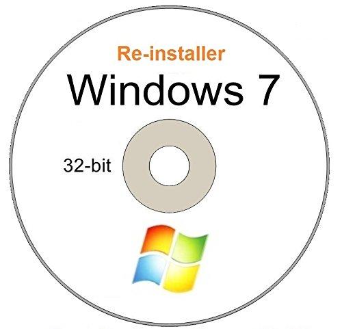 Price comparison product image WINDOWS 7 Home Premium 32 - Bit Compatible Versions Re-install Windows Factory Fresh! Recover,  Repair,  Re Install - Restore Boot Disc ~ Fix PC - Laptop - Desktop ~DVD / ROM