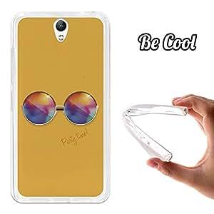 BeCool® - Funda Gel Flexible Lenovo Vibe S1 Gafas de Sol Redondas Carcasa Case Silicona TPU Suave