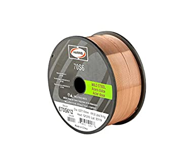 Harris E70S6F9 ER70S-6 MS Spool with Welding Wire, 0.035 lb. x 44 ...
