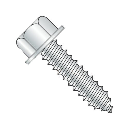 5/16'' x 2'' High Profile Hex Lag Screws/Steel/Zinc/Head Height: .300''-.312'', 7/16'' Across The Flats (Carton: 700 pcs)