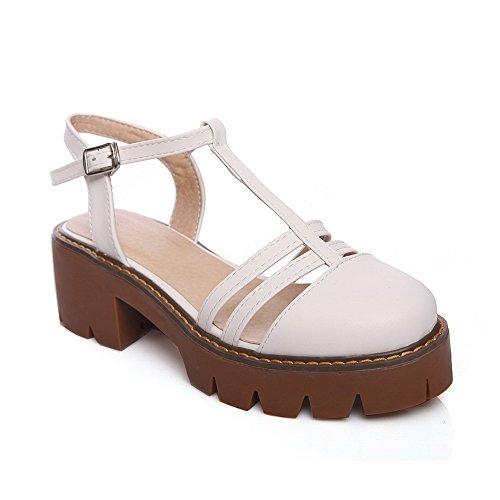 Compensées Blanc 5 Femme AdeeSu Sandales SLC04188 Blanc EU 36 Eq6a7