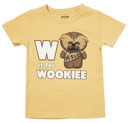 Star Wars -W is for Wookie - Toddler T-Shirt 3T Yellow]()