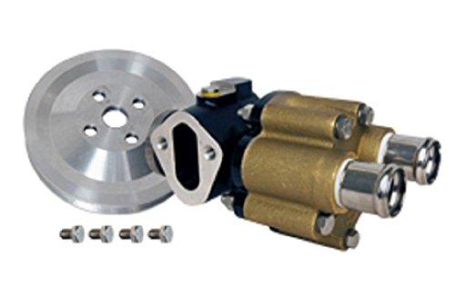 - GLM Marine BRASS Sea Water Pump Assembly V6 V8 Engines with V-belt (SS Shaft) w/Fuel Pump Mount
