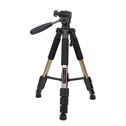 Tairoad T1-111 Tripod 55' Aluminum Lightweight Sturdy Tripod for Camera DSLR EOS Canon Nikon Sony Samsung Max Capacity 11lbs (Champagne)