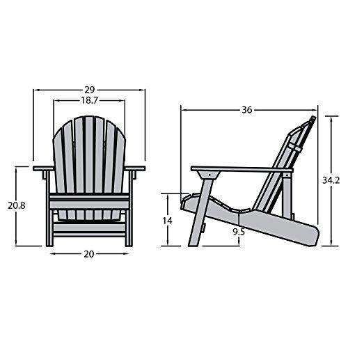 Highwood AD-CHL1-ACE Hamilton Adirondack Chair, Adult, Weathered Acorn