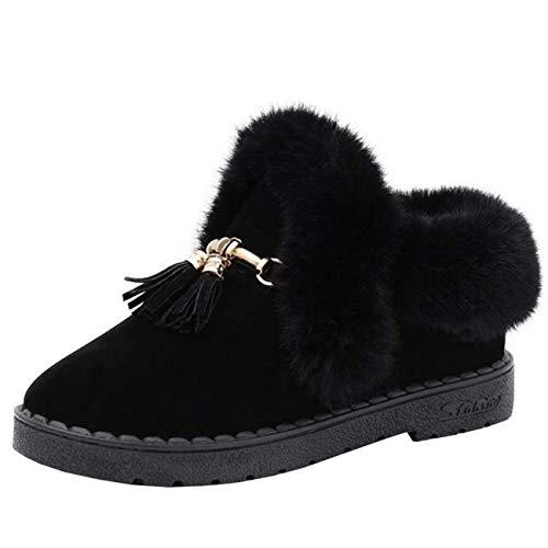 Femme Et Glands couleur Gris Eeayyygch 6 À Taille Bottes Noir Chaussure Lacets Uk De Neige SwfnH84q