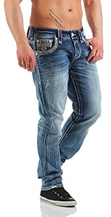 Rock Revival Pantalones Vaqueros De Hombre CLEM J200 - Azul ...