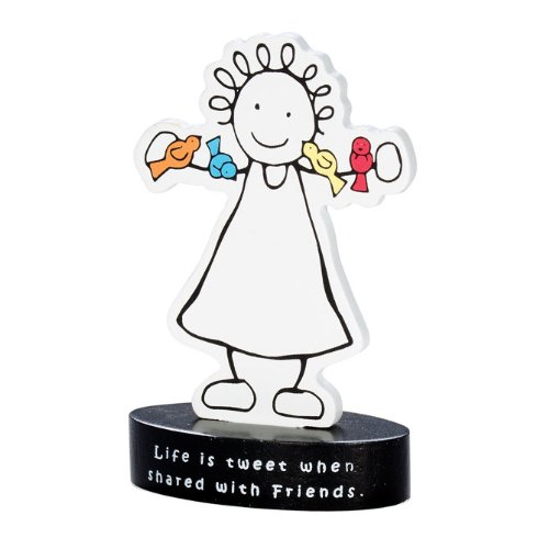 &quotTime To Smile&quot by David Miller &quotLife Is&quot Figurine, 4.75&quot H x 3&quot W x 1.5&quot D