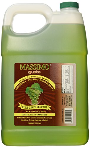 100% Pure Grape Seed Oil - 1 Gallon by Massimo