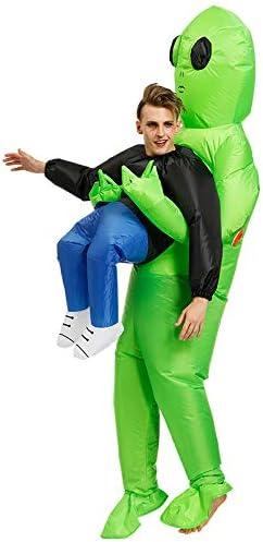 Gelentea - Disfraz de alienígena verde, inflable, para fiesta ...