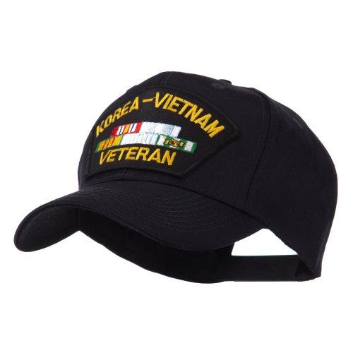 E4hats Veteran Military Large Patch Cap - Korea Vietnam OSFM
