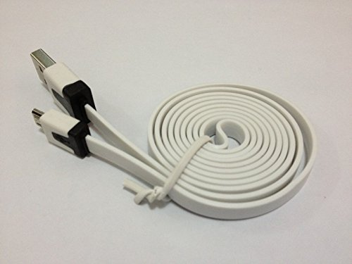1 Meter USB 2.0 A to Micro USB - Flat Charging/Data Black White