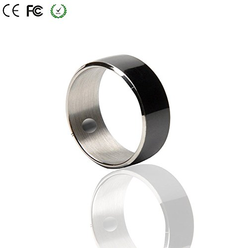 Smart Ring,COOSO R3F Newest Magic Smart Ring Universal For All Android Windows NFC Cellphone Mobile Phones.Black,Size 8(one year free warranty)