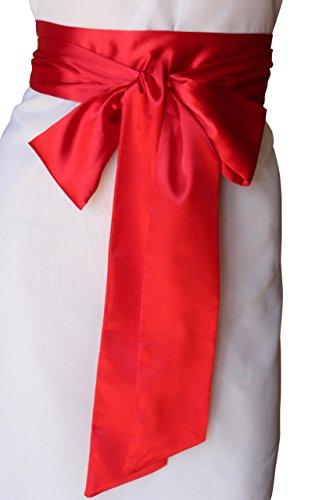 SASH Bridal Satin Sash Red - Colored Sash