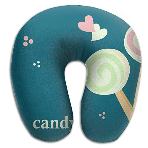 Siwbko Neck Pillow with Resilient Material Two Lollipop Candy U Type Travel Pillow Super Soft Cervical Pillow