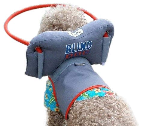 Muffin's Halo Blind Dog Harness Guide Device - Help for Blind Dogs or Visually Impaired Pets to Avoid Accidents & Build Confidence - Ideal Blind Dog Accessory to Navigate Surroundings - Medium