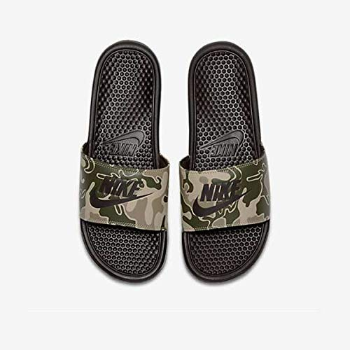 Nike Benassi JDI Print Men's Sandals Velvet Brown 631261-202 (10 D(M) US)