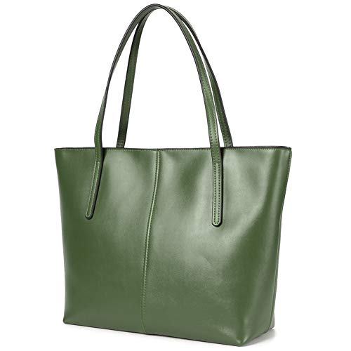 CHERRY CHICK Women's Everyday Tote Bag Large Leather Purse Hot Gift (Army Green-2152)
