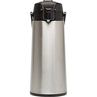 Aladdin 10-01424-004 64oz Glass-Lined 64 oz Stainless Steel Vacuum Insulated Air Pot,