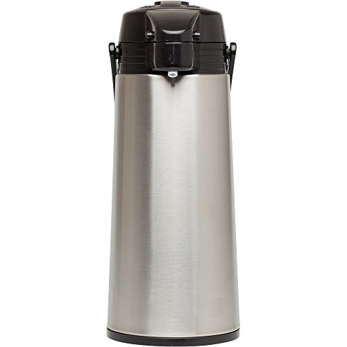 Coffee Pump Pots - Aladdin 10-01424-004 64oz Glass-Lined 64 oz Stainless Steel Vacuum Insulated Air Pot,