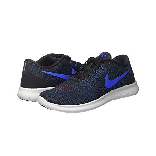 19bfb17c Nike Free RN Black Blue Dark Cayenne RED Mens Running 831508 011
