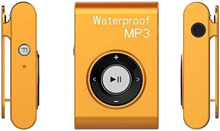 WZY IPX8 Waterproof Swimming Diving Sports MP3 Music Player with Clip & Earphone, Support FM, Memory:4GB(White) (Color : Orange)