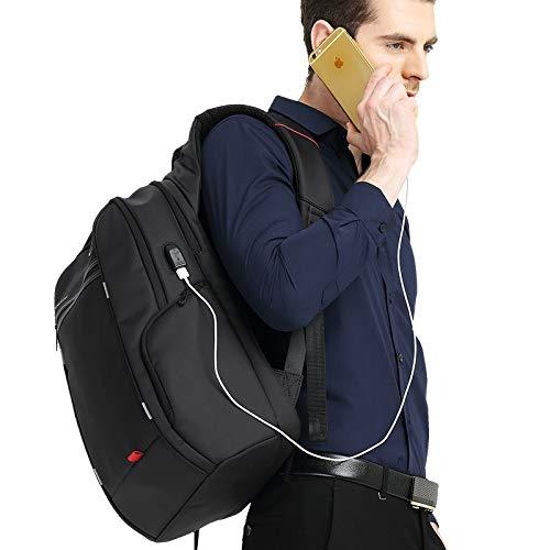 Flybiz Mochila antirrobo Impermeable, Mochila para portátil Multiusos Daypacks con Puerto de Carga USB, para Escolar Negocio Viajes Trabajo, Mochila ...