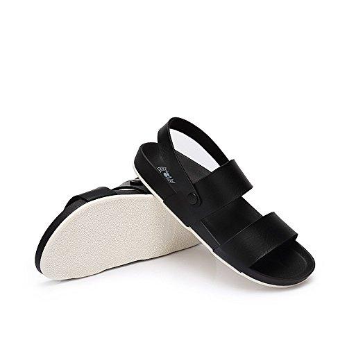 Casual Sandalen Met Platte Sandalen En Slippers Camel Plateau Voetbed Zwart
