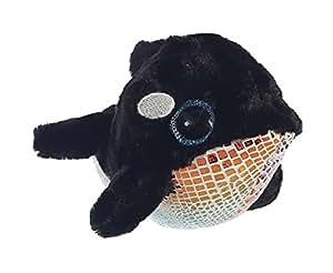 "Aurora World Plush Animal Toy, Blackee Orca Whale, 6"""