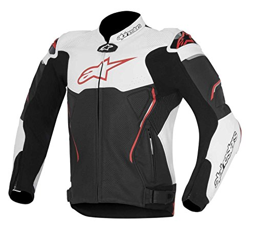 ther Motorcycle Jacket - Black/Red - 48 (Alpinestars Motorcycle Leathers)