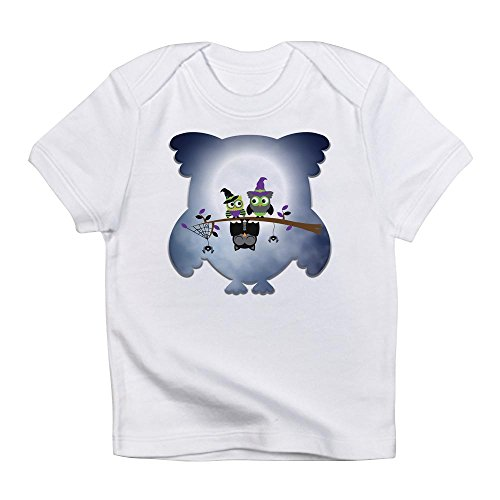 Truly Teague Infant T-Shirt Little Spooky Vampire Owl With Friends - Cloud White, 18 To 24 -